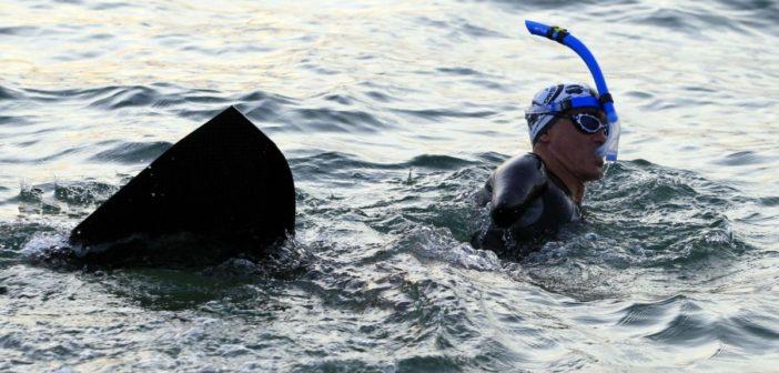Handisport : le nouveau tour de Corse à la nage de Thierry Corbalan